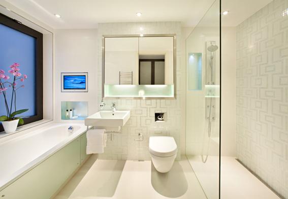 Thiết kế nội thất phòng tắm hện đại